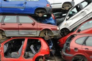 Um desmanche de carros